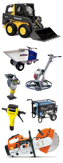Equipment rentals at Construction Rental Inc. serving Hastings NE, Lexington NE, Lincoln NE, Kearney Nebraska